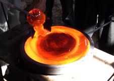 Molten glass 3