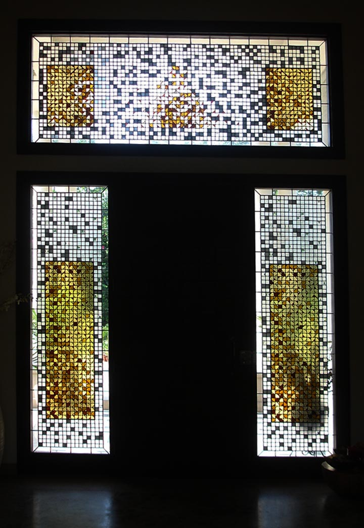 Entrance Panels. Private Residence. New Delhi